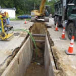 Maintaining a dry trench while working within the watertable