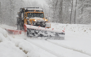 Plowing a very wet snow