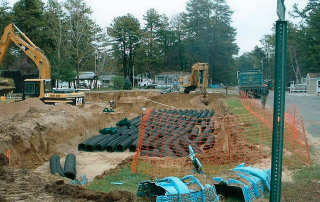 Excavation for the replacement system