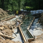 Forming up cast-in-place footings