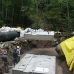 Installing the precast footings