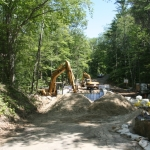 Backfilling the bridge structure