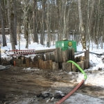 Dewatering the hole