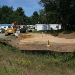 Grading the small Flood Storage Area