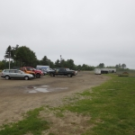 The existing parking lot