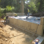 The new precast bridge set over Frost Brook