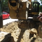 Excavation to Install a drainage Structure