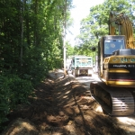 Constructing a Grass Lined Swale