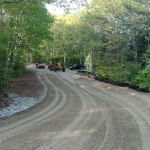 Fine Grading and Compacting Reconstructed Road way