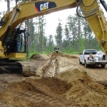 Excavating for Underground Electrical Lines