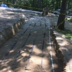 Advanced Enviro Pipe Bedded in Septic Sand