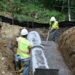 Bedding the Concrete Culvert in Stone
