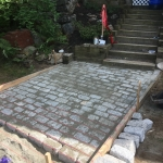 Construction of Granite Cobble Stone Patio
