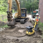 Backfilling and Compacting Drainage Manhole