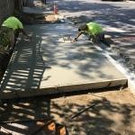 JCB Colby Masonry Smoothing Concrete Sidewalk