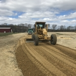 Spreading Gravel for New Track