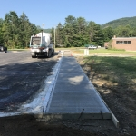 Pouring Concrete Sidewalks