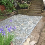 Completed Granite Cobble Stone Patio