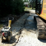 Underdrain Brought to Grade