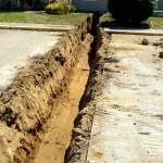 Water Line Trench